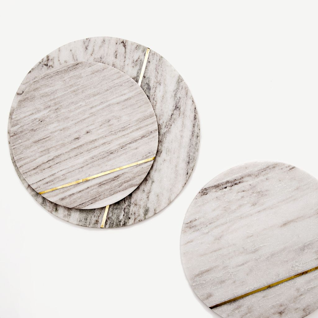 The Aragon Round Marble And Gold Cutting Boards Previous